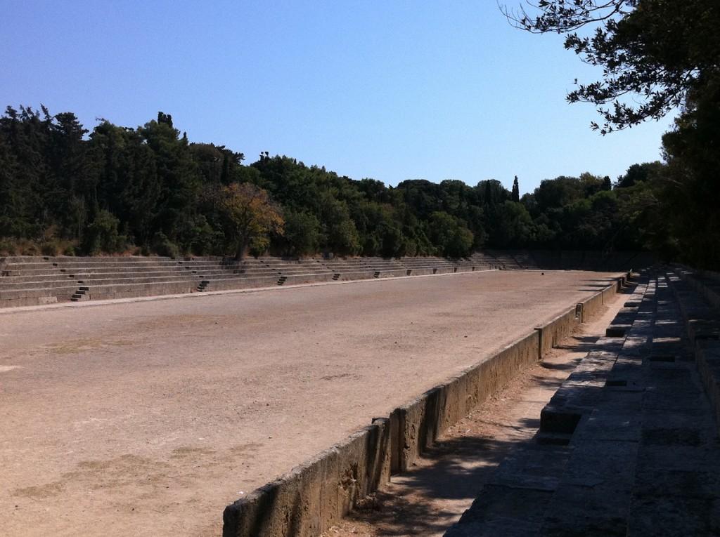 Antikes Stadion nahe der Akropolis von Rhodos