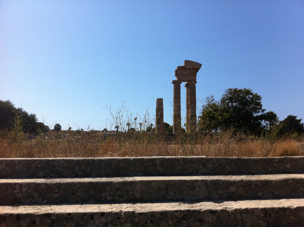 Säulen des Apollon-Tempels auf Rhodos