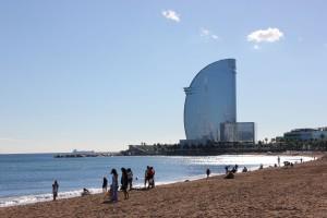 Strand von Barceloneta in Barcelona