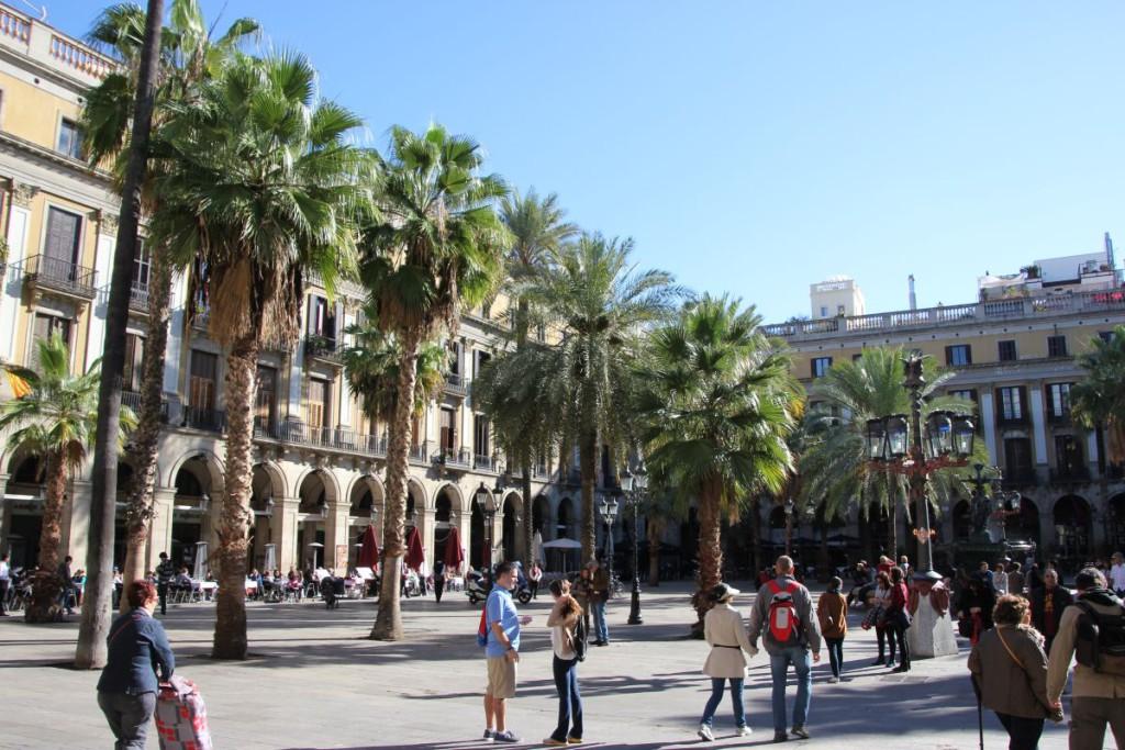 Placa Reial Barcelona nahe der Rambla
