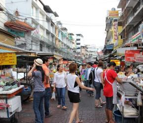 Markt in China Town Bangkok, Thailand
