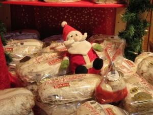 Christstollen auf dem Rostocker Weihnachtsmarkt