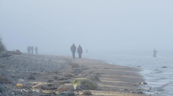 Dänisch-Nienhof Ostseestrand Nebel