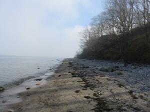 Dänisch-Nienhof Strand Steilküste
