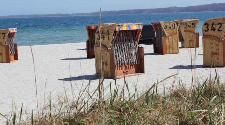Strandkörbe am Eckernförder Strand