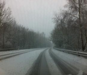 Erster Schnee in Kiel November 2015 in diesem Winter