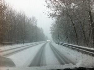 Erster Schnee in Schleswig-Holstein Winter 2015