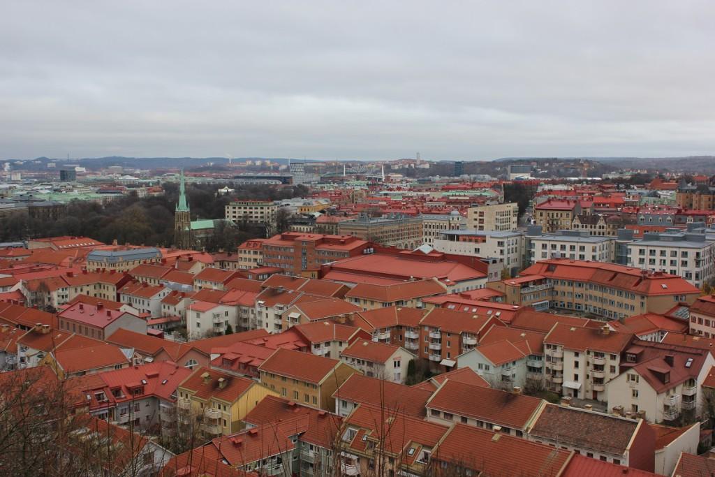 Blick auf Göteborg von Skansen Kronan auf dem Risasberget
