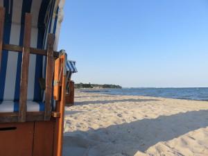 Haffkrug Strandkörbe an der Ostsee