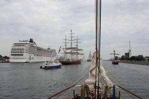 Hanse Sail Rostock Begleitfahrt auf der Atlantis