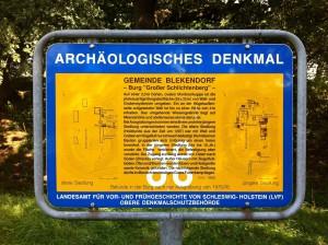Informationstafel Großer Schlichtenberg in der Gemeinde Blekendorf in Schleswig-Holstein