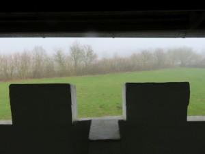 Ausblick von der Jomsburg auf die Bundeswiese
