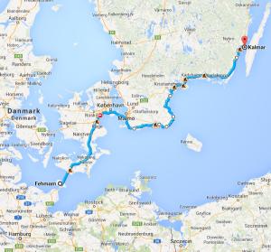 Von Fehmarn über Malmö nach Kalma