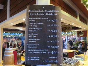 Kieler Weihnachtsdorf Glögg Hus Preisliste - Weihnachtsmarkt Kiel auf dem Rathausplatz