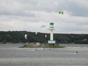 Kitesurfing am Leuchtturm Friedrichsort