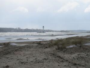 Leuchtturm Falckensteiner Strand an der Kieler Förde