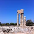 Reste des Apollon-Tempels auf dem Berg Monte Smith auf der griechischen Insel Rhodos