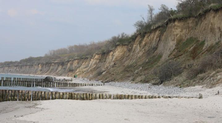 Nienhagen Steilküste am FKK Strandabschnitt