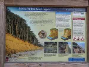 Steilufer Nienhagen Schautafel