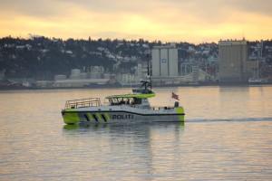 Polizeiboot im Oslofjord