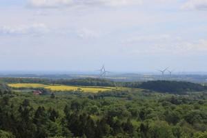 Blick vom Fernsehturm am Bungsberg: Windräder in Ostholstein