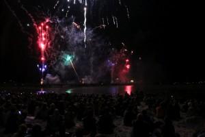 Grömitz Ostsee in Flammen 2016 Feuerwerk
