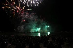 Ostsee in Flammen Feuerwerk in Grömitz an der Seebrücke am 26.08.2016