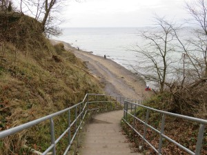 Steilküste Elmenhorst Treppe zum Strand