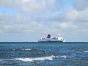 Scandlines Fähre Rostock - Gedser (Dänemark) bei der Ankunft in Rostock