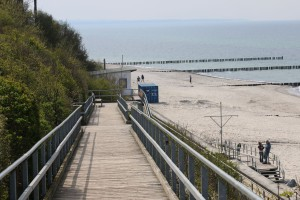 Strand Ostseebad Nienhagen barrierefreier Strandabgang zur Ostsee