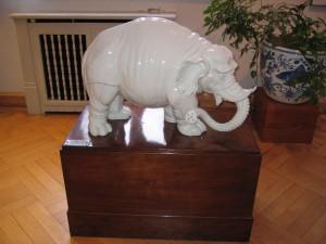 Elefant im Porzellan Museum Meißen