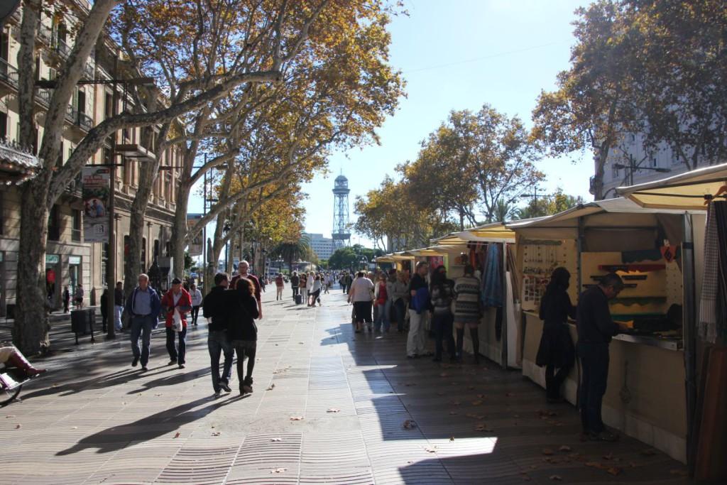 Rambla de Santa Mònica Barcelona