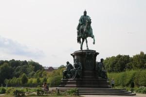 Reiterstatue Schlosspark Schwerin