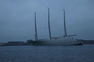 Sailing Yacht A in der Kieler Förde