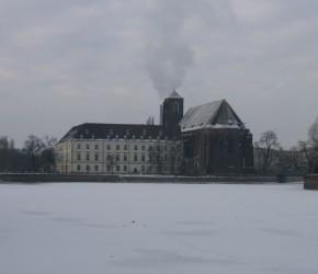 Sandkirche Breslau (St. Maria auf dem Sande) im Winter