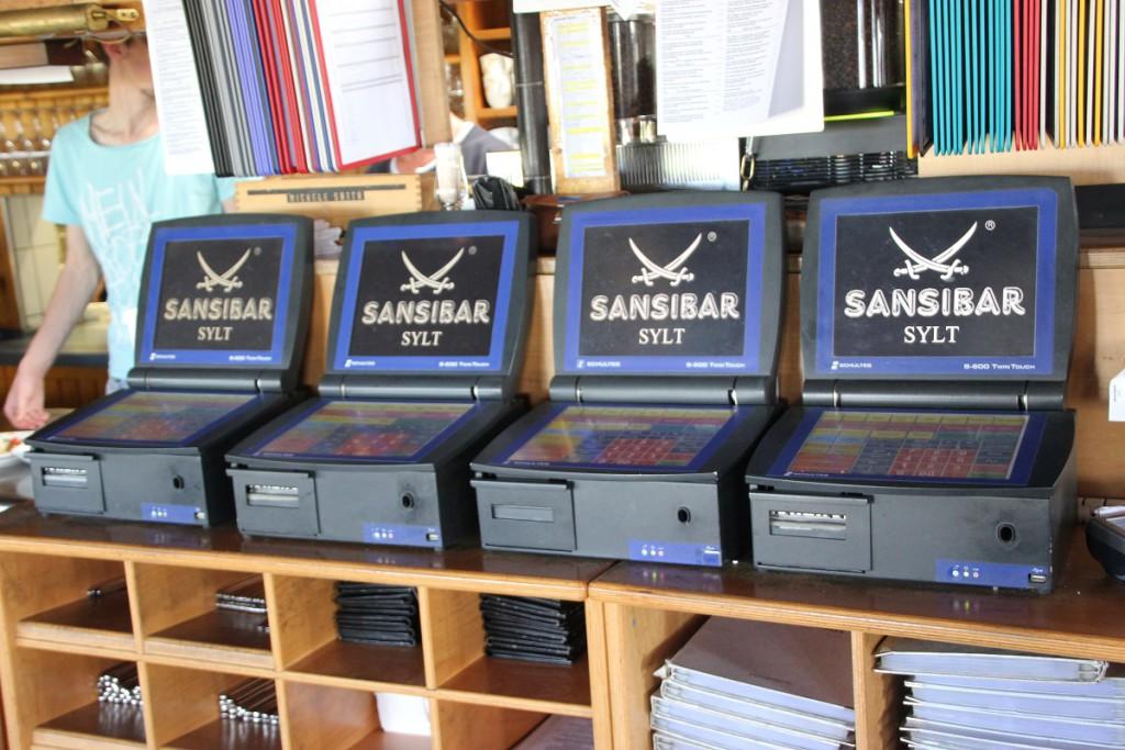 Sansibar Sylt Kassen im Restaurant