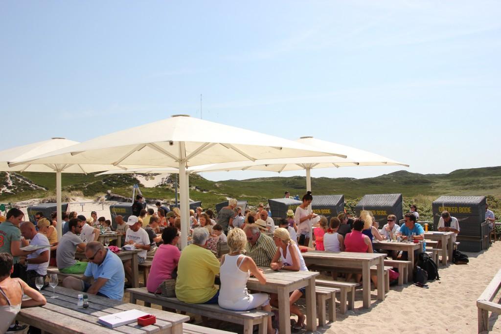 Sansibar Sylt Restaurant im Sommer
