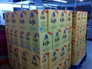 Leffe Bier im Scandlines BorderShop Puttgarden auf Fehmarn