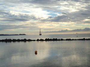 Sonnenaufgang an der Ostsee in Schilksee