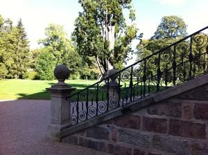 Treppe und Landschaftspark von Schloss Bothmer