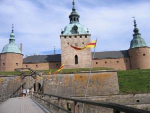 Eingang zum Schloss Kalmar in Schweden der historischen Festung an der Ostsee