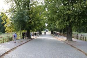 Allee zwischen Schlosspark und Schlossinsel