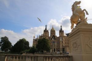 Schweriner Schloss auf der Schlossinsel