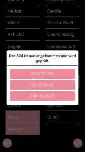 """Screenshot der App """"Das ist Glück"""""""