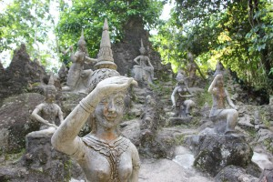 Skulpturen im Secret Buddha Garden