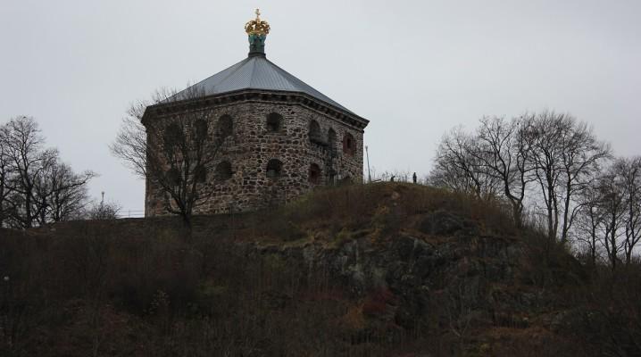 Ehemalige Festungsanlage Skansen Kronan auf dem Risasberget in Göteborg, Schweden