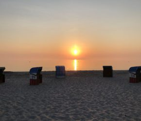 Sonnenaufgang Strand Hohwacht an der Ostsee