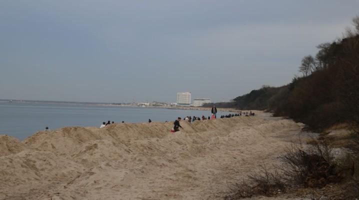 Sandaufschüttungen am Ostseestrand Diedrichshagen