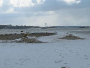 Leuchtturm Falckensteiner Strand im Winter