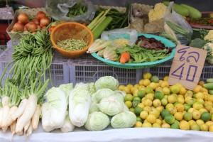 Gemüse auf dem Markt in Surat Thani